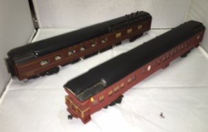 PRR O Scale Heavyweight Passenger Cars