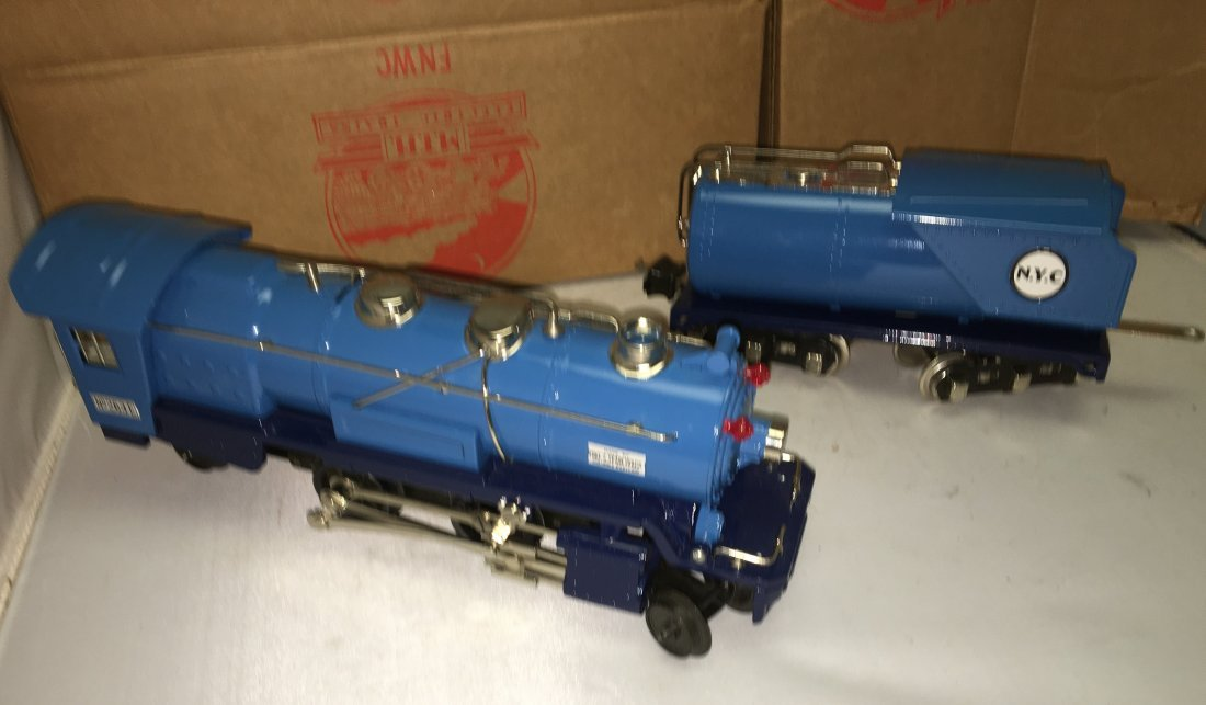 MTH Lionel 263E O Gauge Blue Comet Steam Engine and - 3