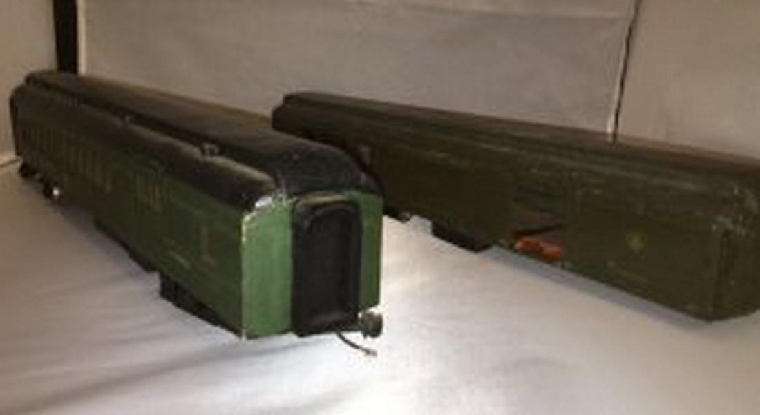 Wood O scale Combine Passenger Cars