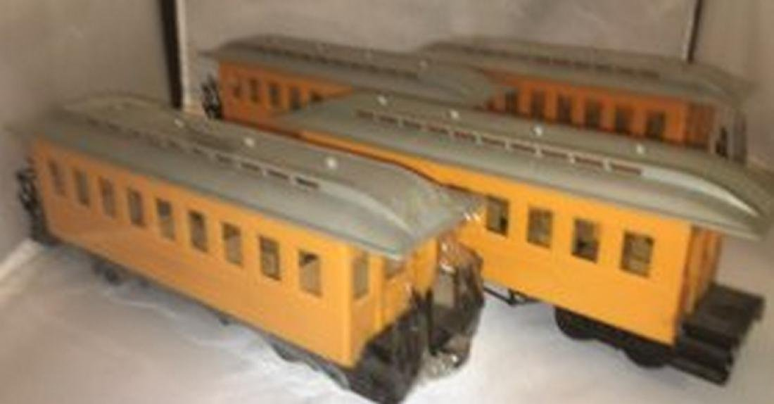 Four G Gauge Passenger Cars