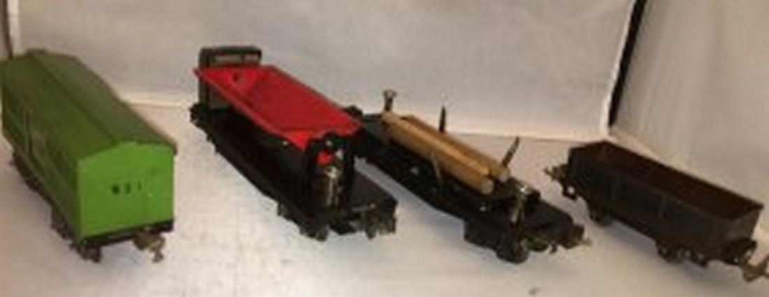 Four Lionel Prewar O Gauge Freight Cars