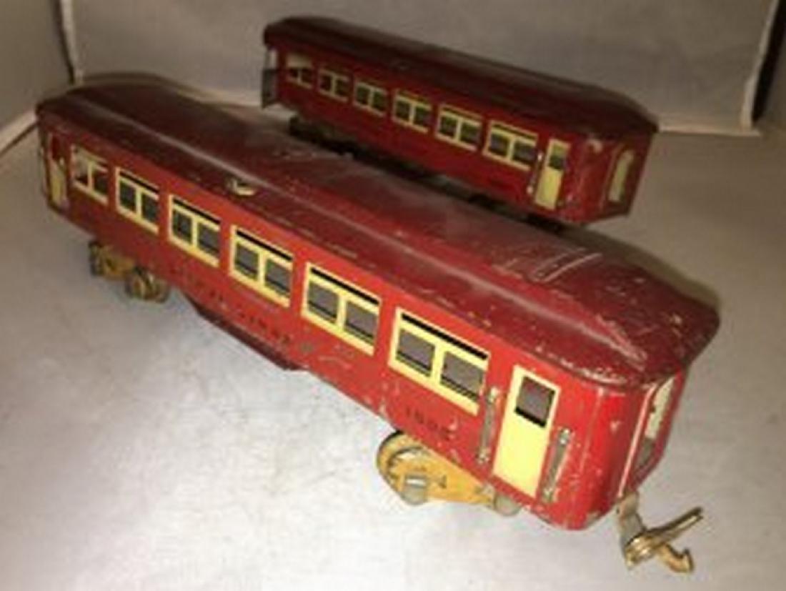 Two Lionel Prewar O Gauge Passenger Cars
