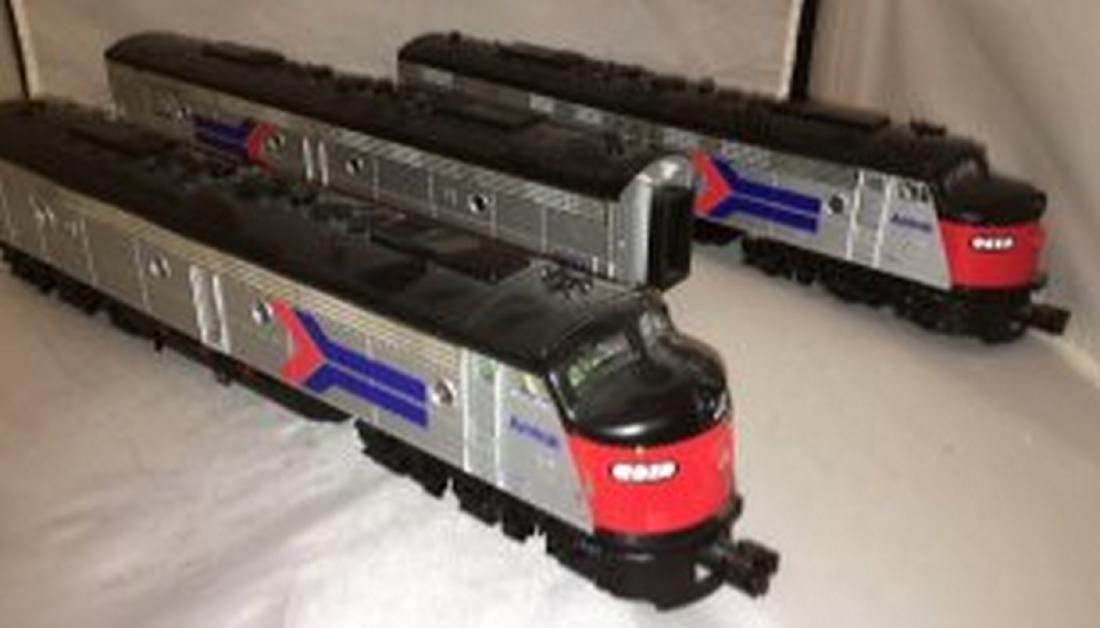 MTH Premier Amtrak O Gauge E8 ABA Diesel Set