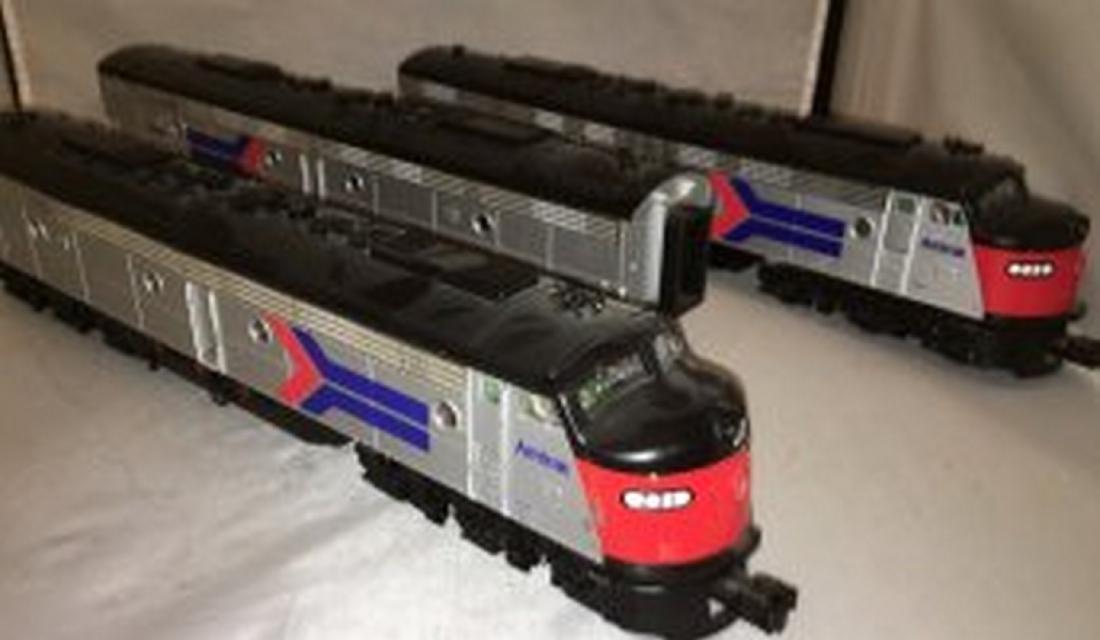 MTH Premier Amtrak O Gauge E8 ABA Diesel Set - 2