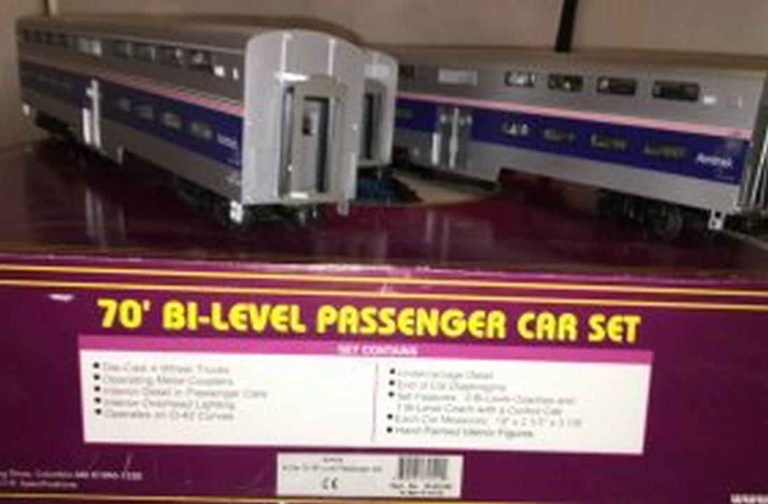 MTH Premier Amtrak O Gauge Bilevel Passenger Car Set