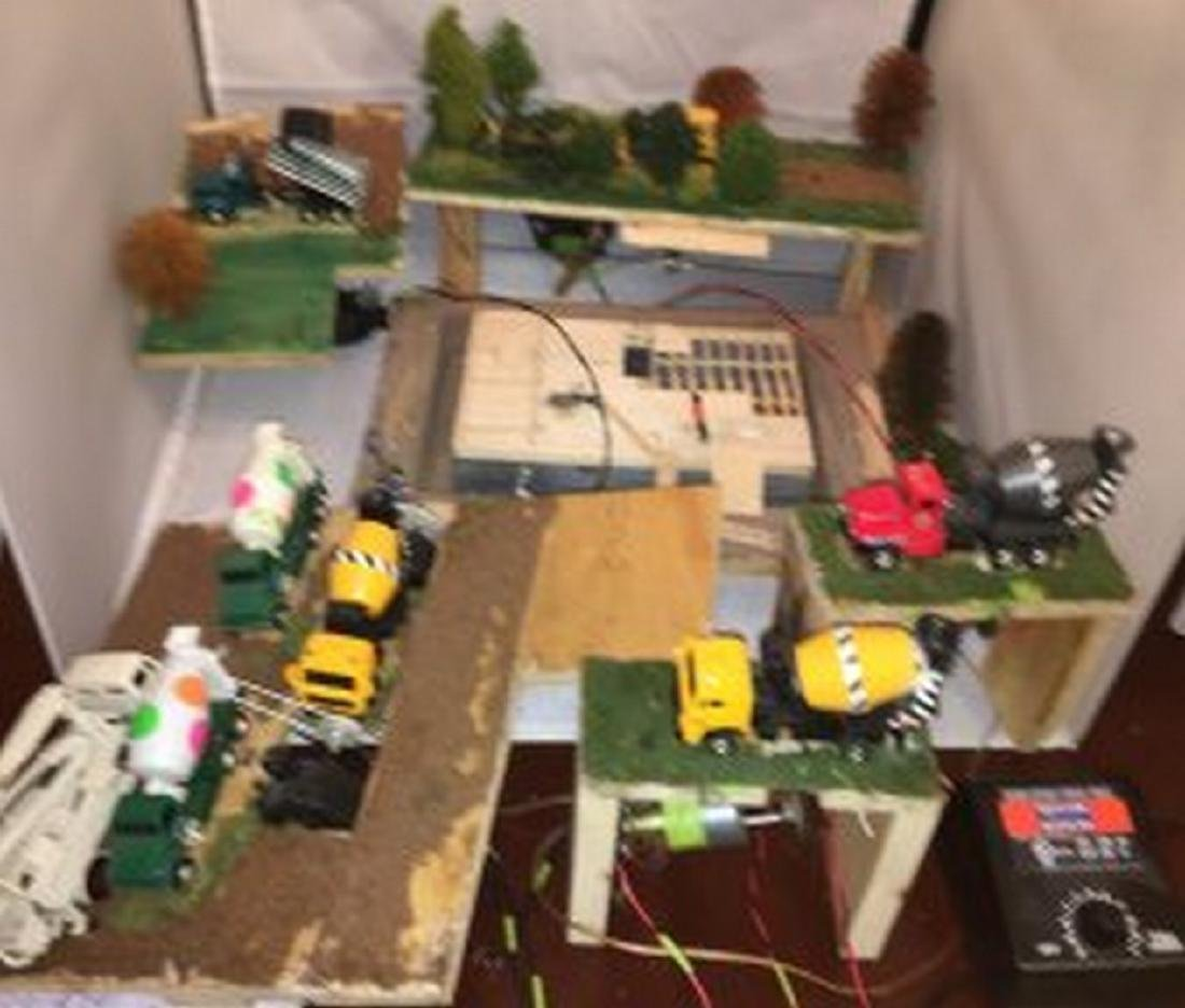 O Gauge House Construction Layout Scene