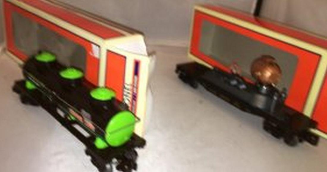 Two Lionel O Gauge Area 51 Freight Cars