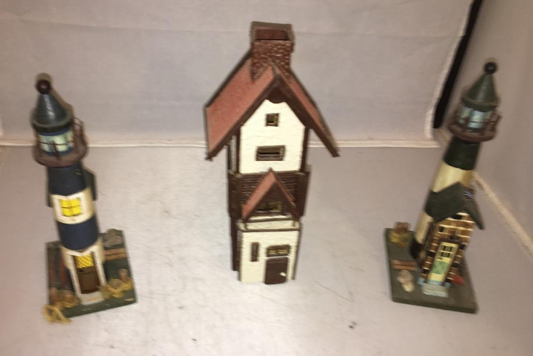 Three Wood O scale Buildings