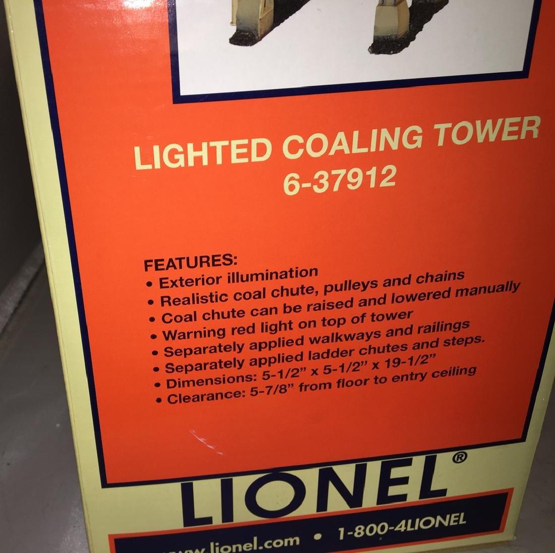 Lionel 37912 O Gauge Lighted Coaling Tower - 3