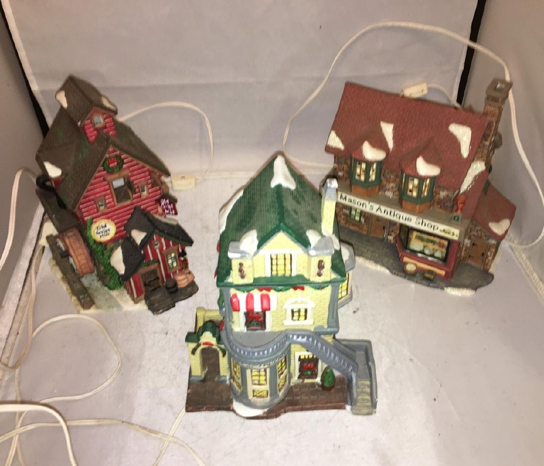 Three Porcelain O Scale Buildings