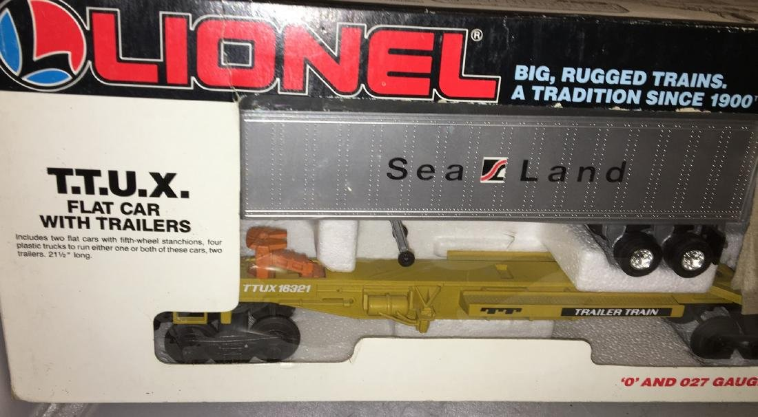 Lionel Sealand O Gauge  TTUX Car Set - 2
