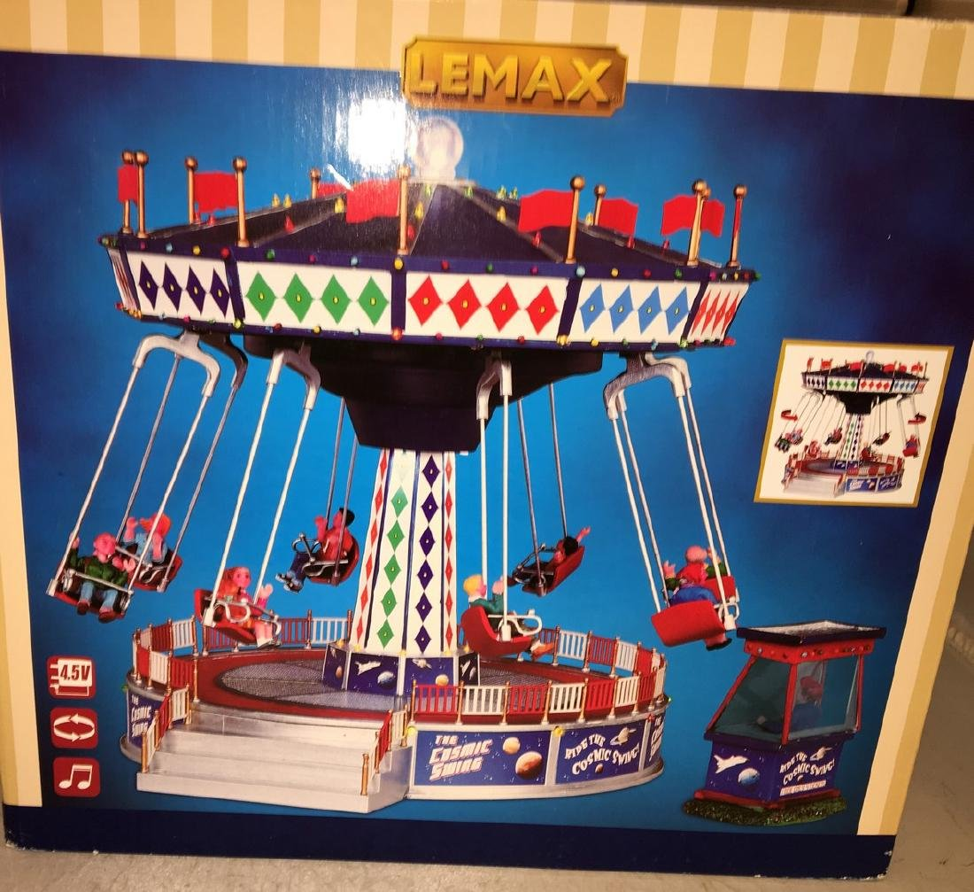 Lemax O Gauge Cosmic Swing Carnival Ride