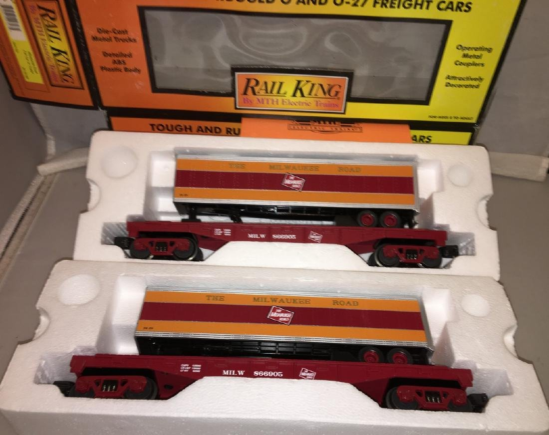MTH MR O Gauge Trailer Carrier Cars