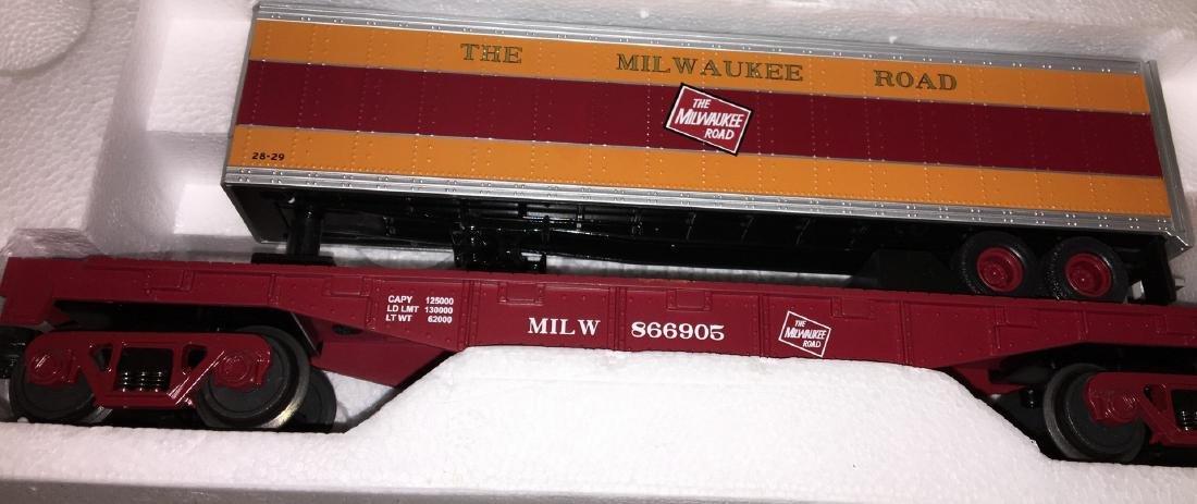 MTH MR O Gauge Trailer Carrier Cars - 3
