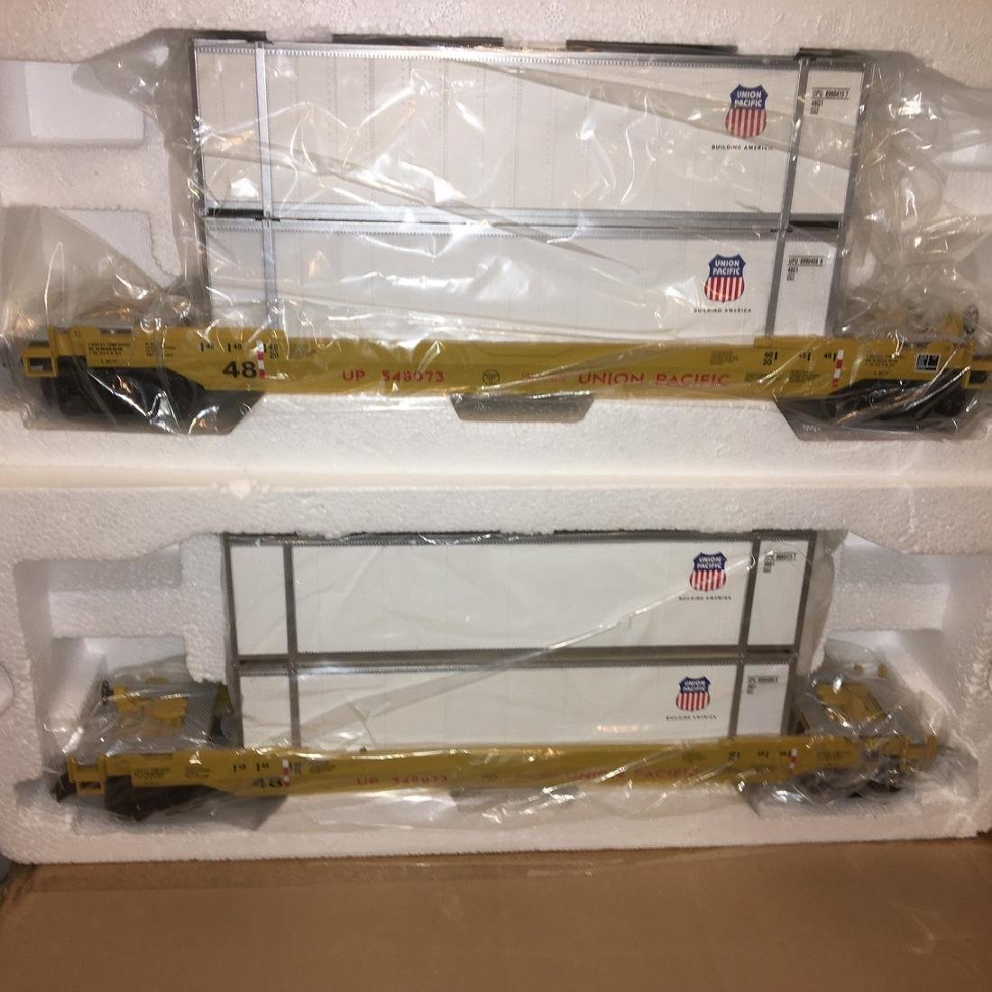 MTH UP O Gauge Husky Stack Car Set - 3