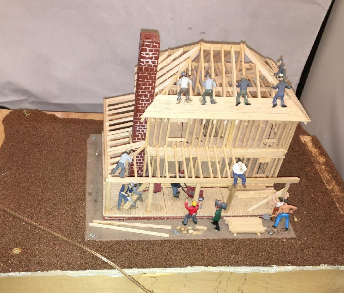 Wood O Gauge Animated House Under Construction