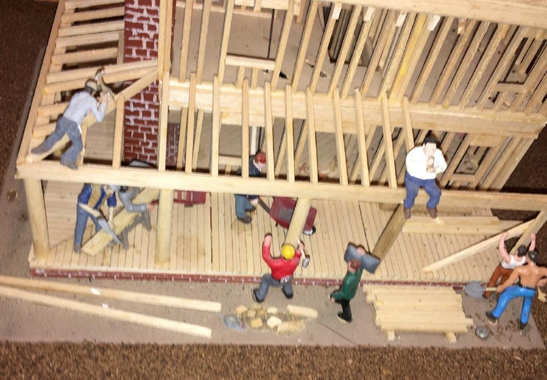 Wood O Gauge Animated House Under Construction - 3