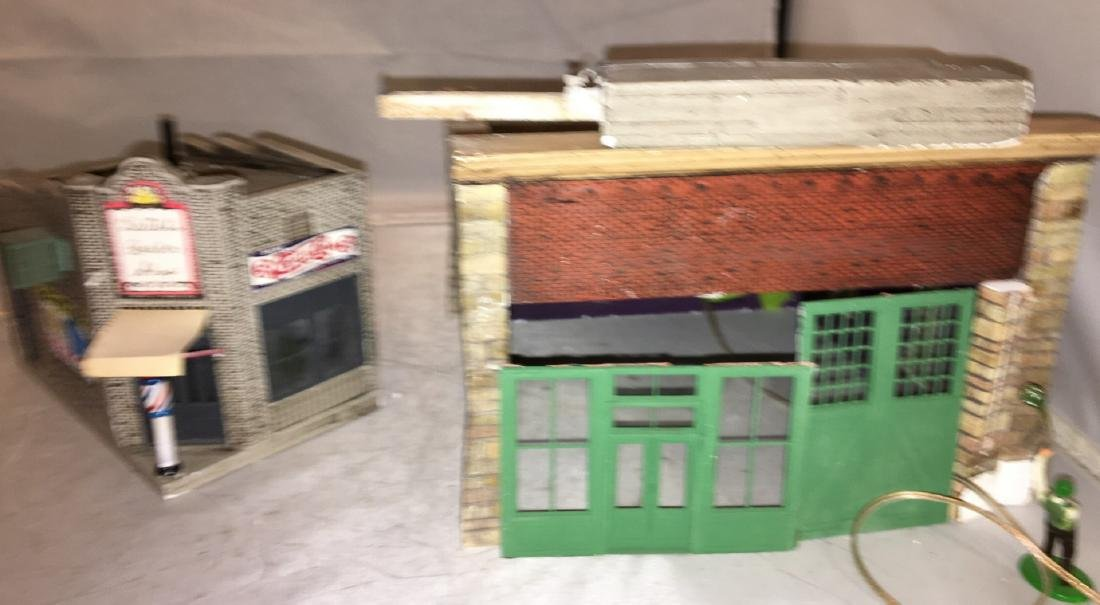Two Cast Plaster O Gauge Buildings
