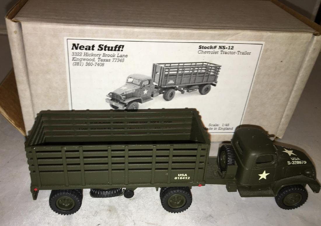 Neat Stuff 1/48 Scale Army Tractor and Trailer Truck