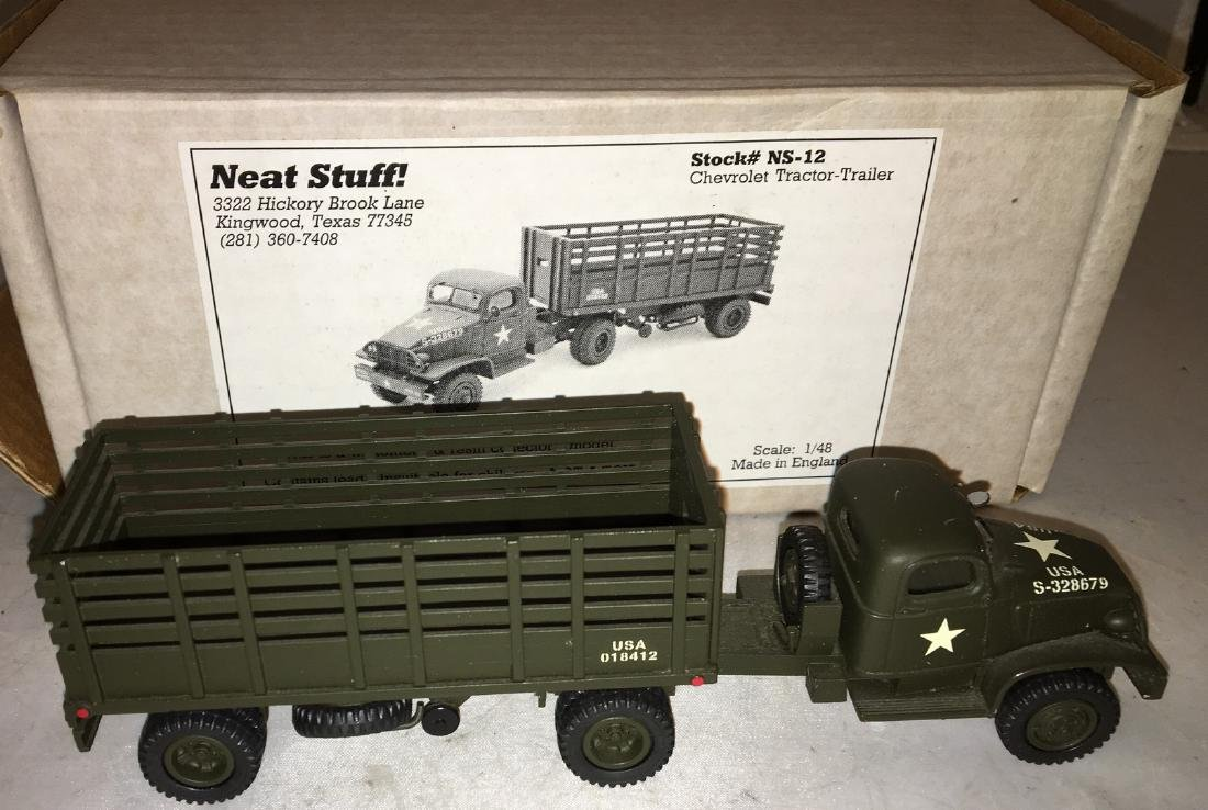 Neat Stuff 1/48 Scale Army Tractor and Trailer Truck - 2