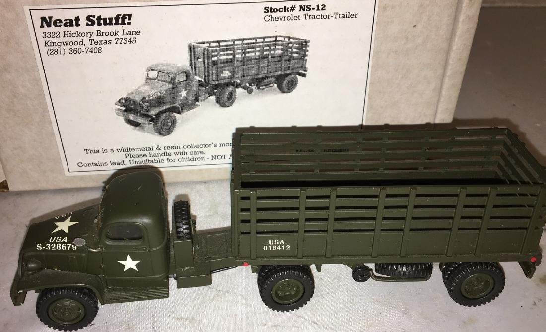 Neat Stuff 1/48 Scale Army Tractor and Trailer Truck - 3