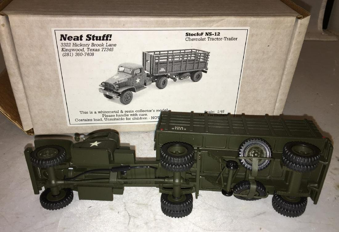 Neat Stuff 1/48 Scale Army Tractor and Trailer Truck - 4