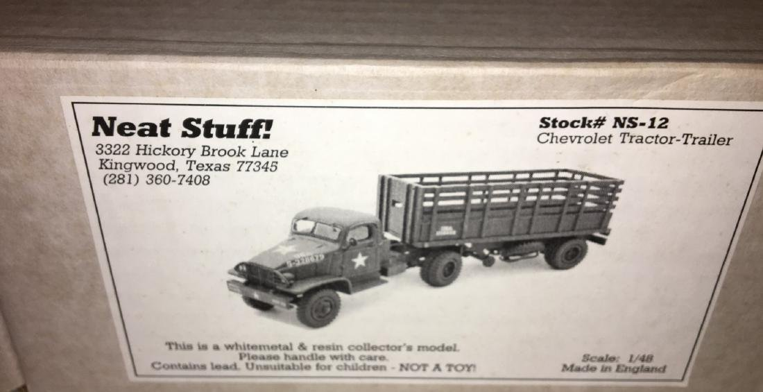 Neat Stuff 1/48 Scale Army Tractor and Trailer Truck - 5