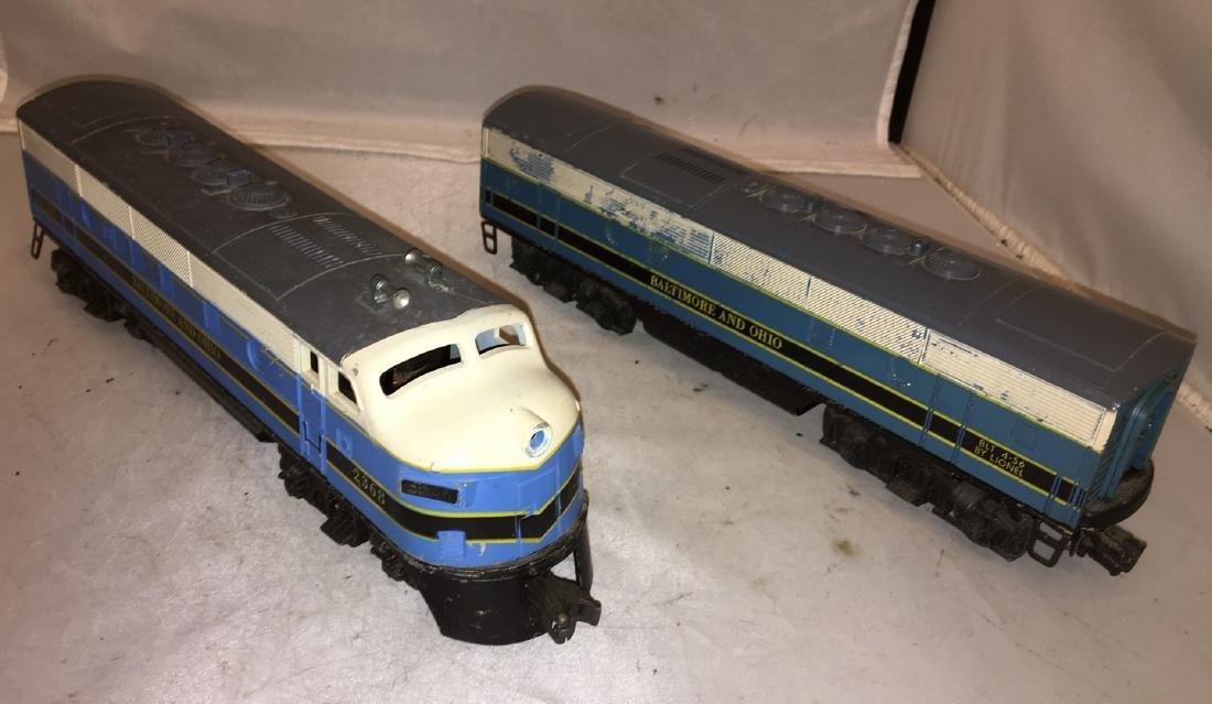 Lionel postwar B&O O gauge F3 AB Diesel Set