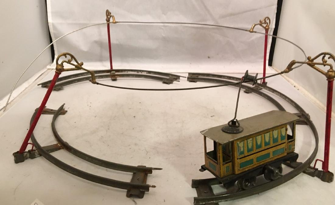Vintage Issmayer O Gauge Trolley Set