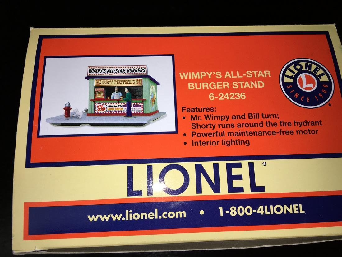 Lionel O Gauge Wimpys Burger Stand - 2
