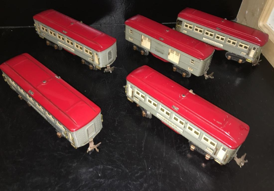 Lionel Prewar O Gauge Gray Passenger Cars - 2
