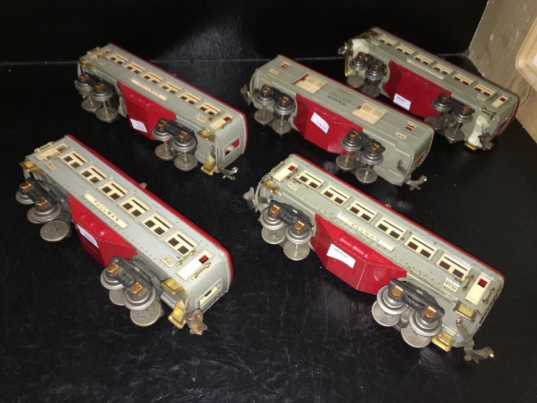 Lionel Prewar O Gauge Gray Passenger Cars - 3
