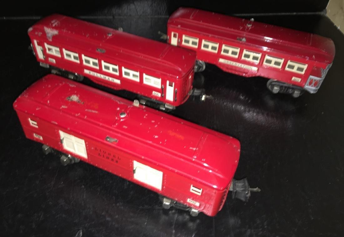 Lionel Prewar O Gauge Red Passenger Cars