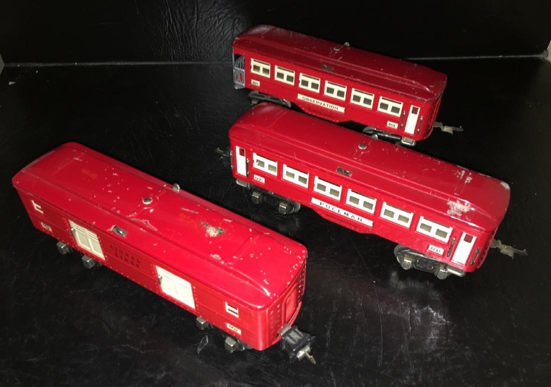 Lionel Prewar O Gauge Red Passenger Cars - 2