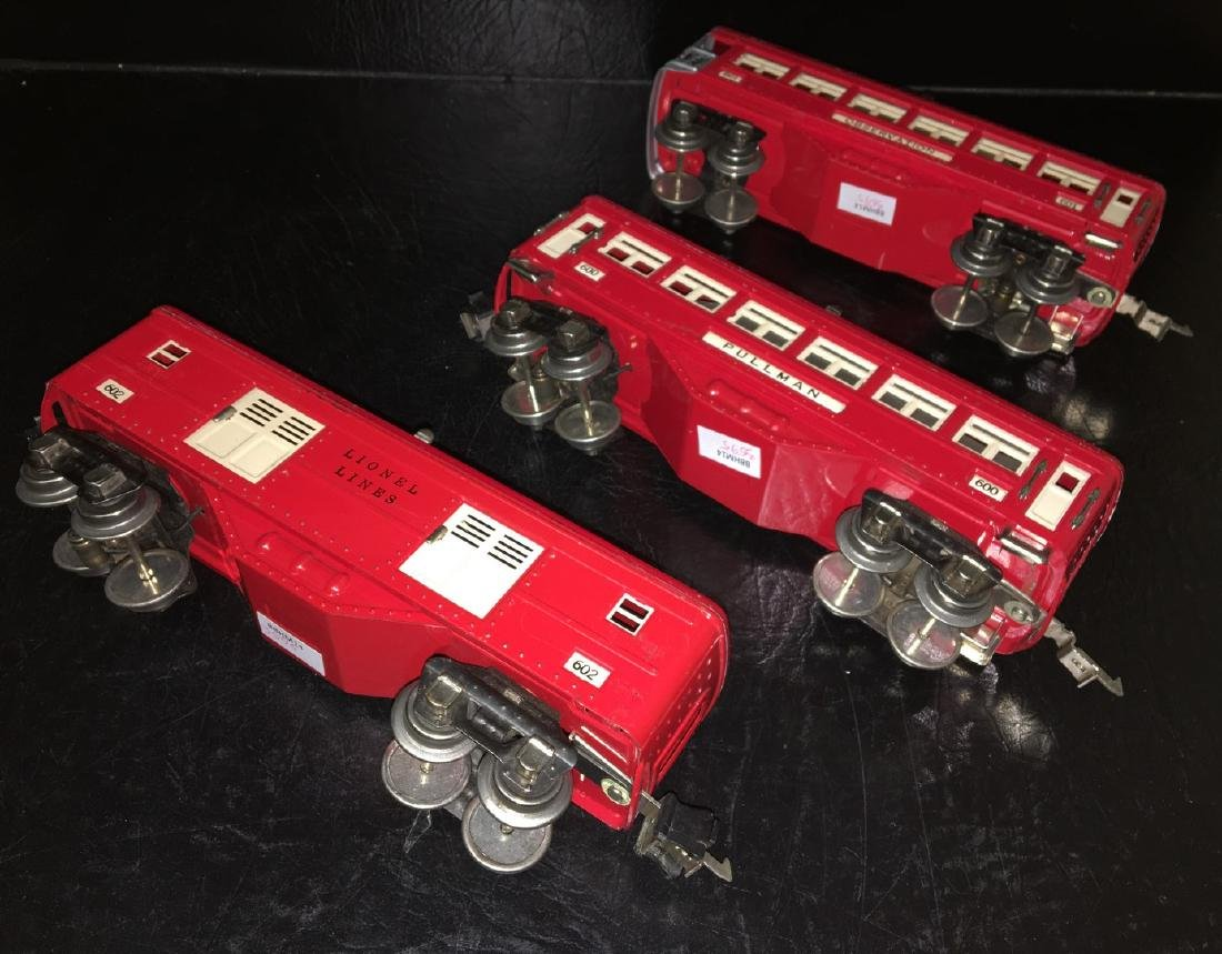 Lionel Prewar O Gauge Red Passenger Cars - 3
