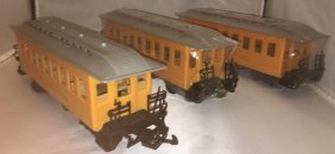 Three G Gauge Passenger Cars