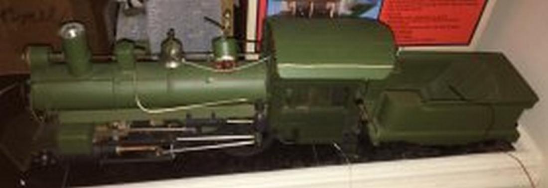 Brass and Wood Standard Gauge Steam Engine Plus