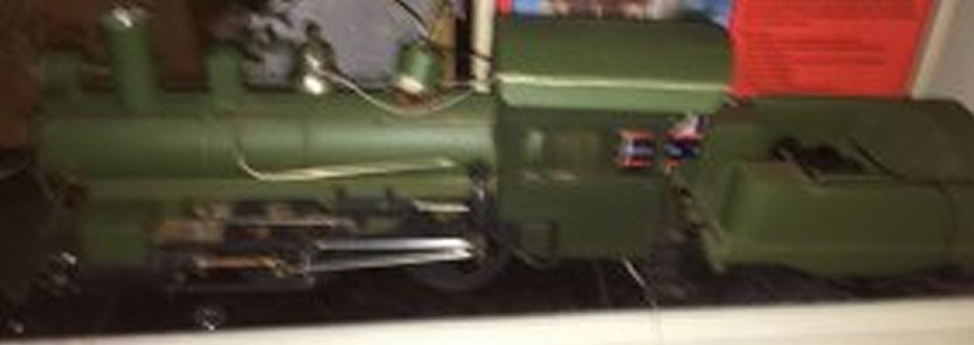 Brass and Wood Standard Gauge Steam Engine Plus - 2