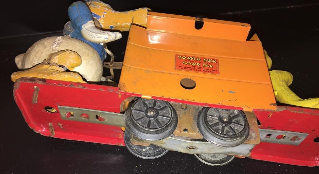 Lionel Prewar 1107 O Gauge Donald Duck Handcar - 2