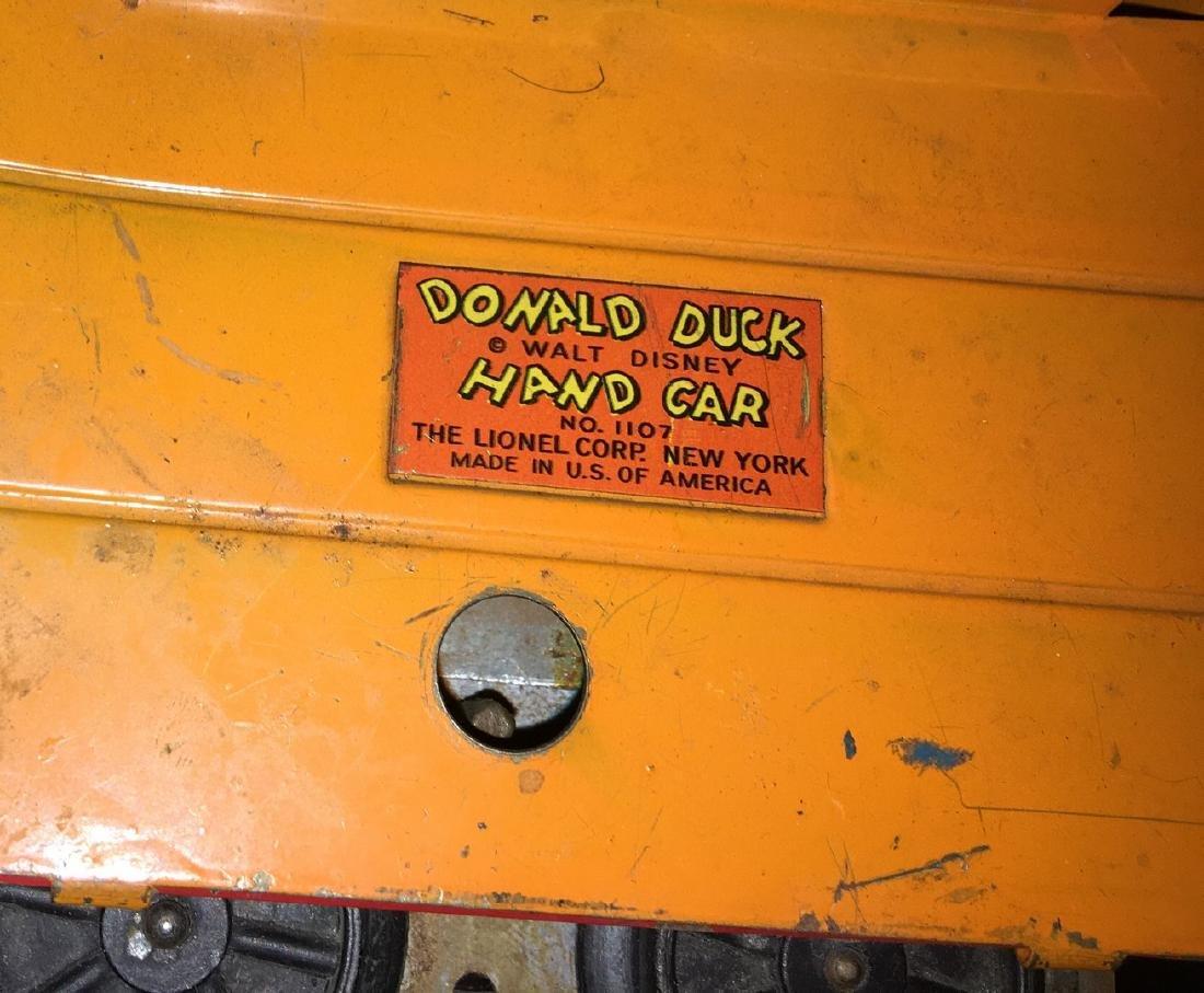 Lionel Prewar 1107 O Gauge Donald Duck Handcar - 3