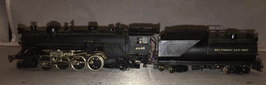 Brass B&O HO Scale Mikado Steam Engine - 3