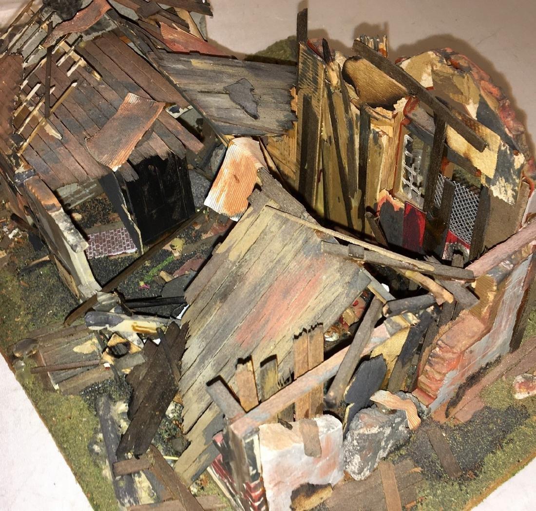 Wood Craftsman O Gauge Decaying Building Diorama - 2