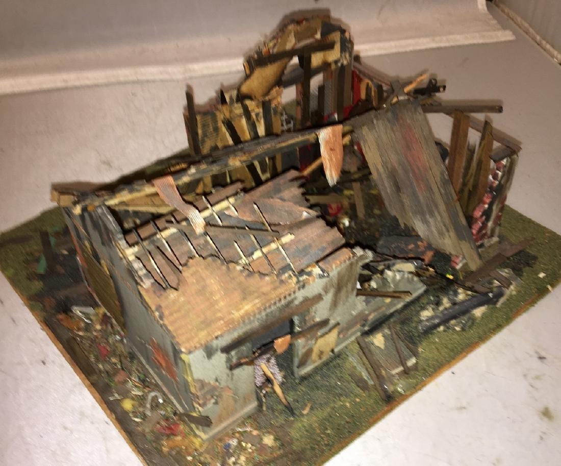 Wood Craftsman O Gauge Decaying Building Diorama - 3