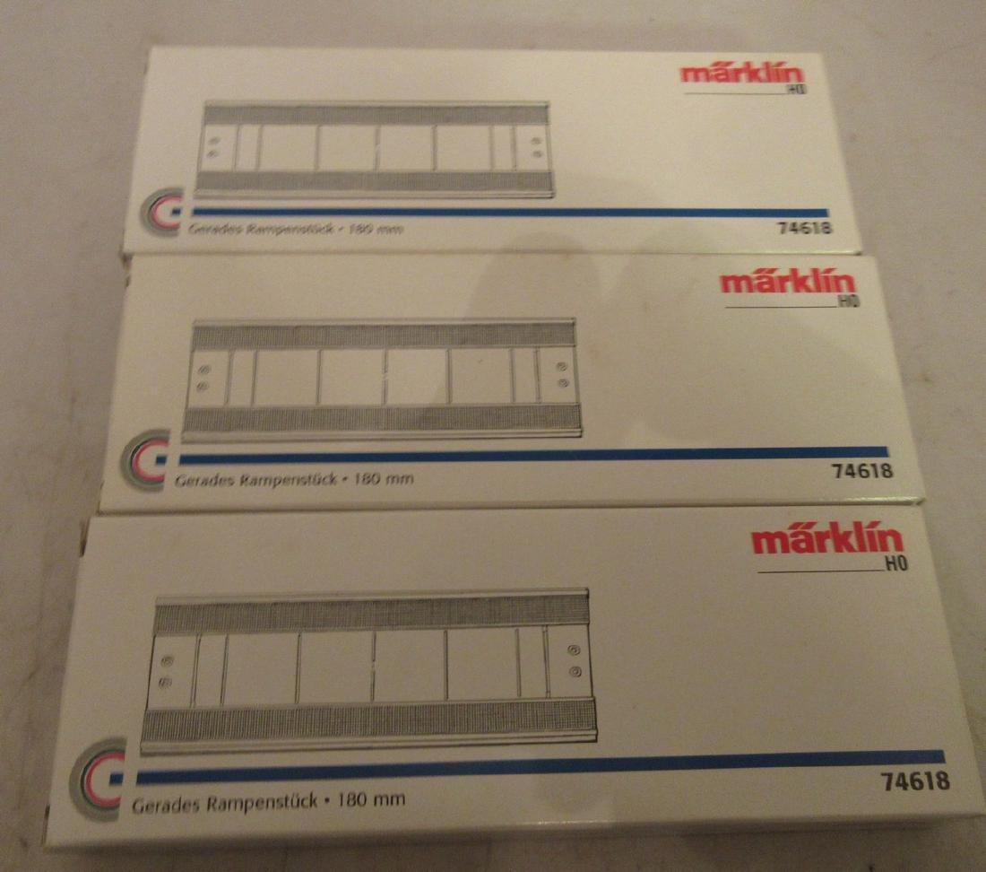 Three Marklin 74618 HO Scale Bridges