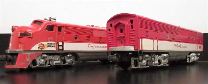 Lionel 2245 Texas Special O Gauge F3 AB set