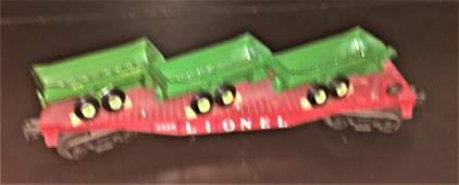 Lionel Postwar 6826 O Gauge Farm Equipment Carrier