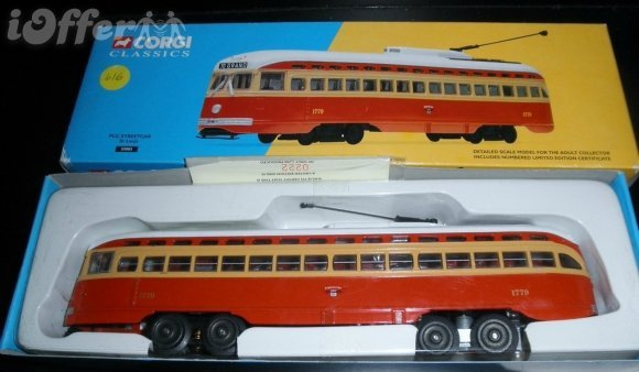 CORGI ST LOUIS O GAUGE POWERED STREETCAR OB