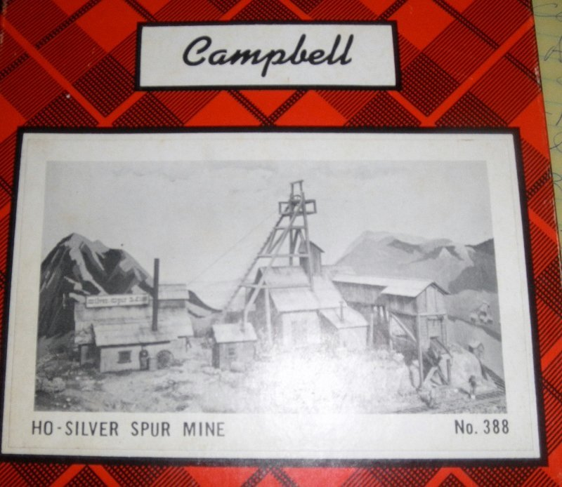 CAMPBELL HO GAUGE SILVER SPUR MINE BUILDING KIT OB