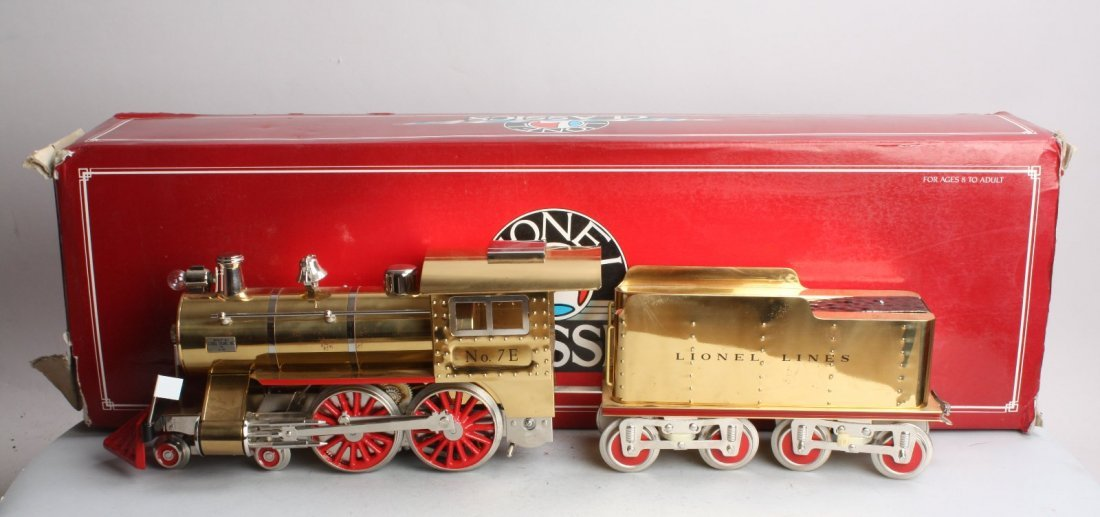 LIONEL 13104 BRASS STANDARD GAUGE 7E STEAM ENGINE OB