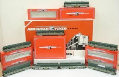 AMERICAN FLYER 49602 NP S SCALE PASSENGER TRAIN OB